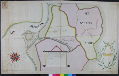 RT-G-FN1 Kaart van een deel van IJsselmonde: Feijenoord, Varkenoord, Karnemelksland en Dirk-Smeetsland. De scheiding ...
