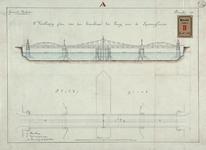 RT-G-FN102-1 Het tweede voorlopig plan van de bovenbouw van de brug over de Spoorweghaven.