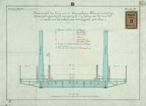 RT-G-FN102-2 Dwarsprofiel van de brug over de Koningshaven, Koninginnebrug, en dat van de Koningsbrug om het verschil ...