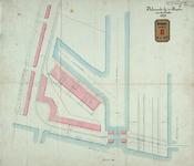 RT-G-FN117-2 Plan van de inrichting van de sporen in de straat buiten het handelsterrein in de wijk Feijenoord.