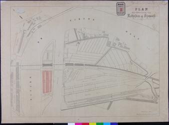RT-G-FN119-3 Kaart van de wijk Feijenoord waarop is aangegeven een ontwerp tot bebouwing van het Noordereiland ten ...