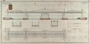 RT-G-FN122-1 Aanzicht en plattegrond van de brug over de Spoorweghaven, de Spoorweghavenbrug.