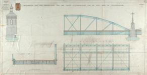 RT-G-FN122-6 Tekening van een hoofdlegger van de vaste overspanningen van de brug over de Spoorweghaven, de ...