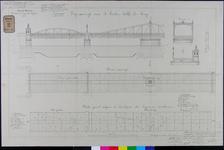 RT-G-FN125-1 Zijaanzicht, bovenaanzicht en een plattegrond van de brug over de Spoorweghaven, de Spoorweghavenbrug.