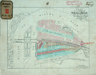 RT-G-FN127-4 Plan van uitbreiding van Rotterdam op Feijenoord met de plaatsaanduiding van de op te richten gasfabriek ...