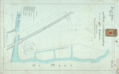 RT-G-FN127-5 Situatieplan van de op te richten gasfabriek in de wijk Feijenoord bij het Spuikanaal.
