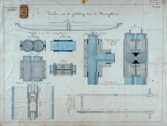 RT-G-FN127-6 Tekening van de zinker voor de gasleiding door de Koningshaven voor de gasfabriek Feijenoord.
