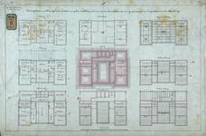 RT-G-FN131-1 Tekening van een te maken gebouw met kantoren en dienstwoningen aan de Koningshaven, voor de politie-, ...