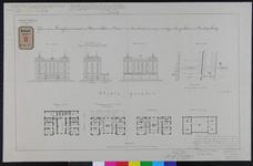 RT-G-FN132 Tekening van een te maken gebouw met kantoren en dienstwoningen aan de Koningshaven, voor de politie-, ...