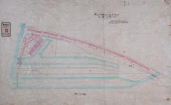 RT-G-FN136 Kaart waarop de hoogten van de wegen in de wijk Feijenoord zijn aangegeven