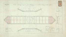 RT-G-FN139 Drie pijlers en remmingwerk van de onderbouw van de Spoorweghavenbrug, de draaibrug over de Spoorweghaven; ...