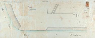 RT-G-FN140-4 Kaart van het terrein aan de noordoostmond van de Koningshaven, in de wijk Feijenoord, met daarop ...