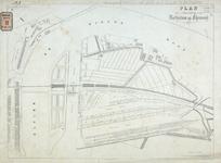 RT-G-FN142-3 Situatieplan van de te maken Koninginnebrug, de draaibrug ter vervanging van het noordelijke vaste ...