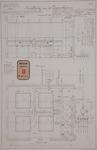 RT-G-FN146-1 Inrichting van het zuiverhuis van de gasfabriek in de wijk Feijenoord, doorsnede en plattegrond.