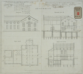 RT-G-FN147-1 Tekeningen van het zuiverhuis van de te bouwen gasfabriek in de wijk Feijenoord.