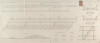 RT-G-FN151 Tekening van de bovenbouw van de brug over het Spuikanaal.