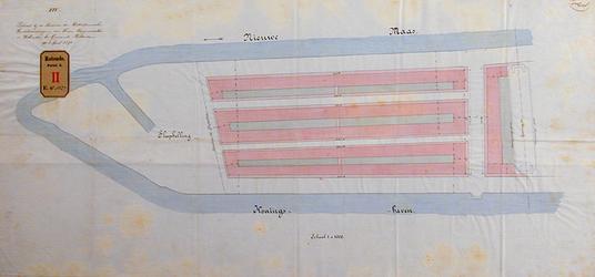 RT-G-FN152-4 Plan tot aanleg van straten op het Noordereiland tussen de Spoorbaan en de sleephelling.