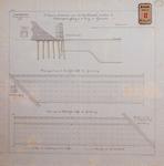 RT-G-FN156-1 Dwarsdoorsnede en plattegronden van de fundering van de te bouwen kademuur aan het Spuikanaal.