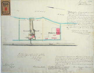 RT-G-FN17-2 Uittreksel uit het kadastrale plan van de gemeente IJsselmonde, sectie A, met tekening van de ...