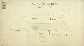 RT-G-FN176-3 Kaart van de Koningshaven met daarop aangegeven het baggerwerk bij de mond van de Binnenhaven.