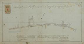 RT-G-FN177 Situatietekening van de dijk tussen de veerdam te Katendrecht en de gemeente Charlois, met daarop aangegeven ...