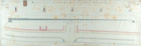 RT-G-FN180 Tekening van de keermuren van de opritten bij het linker landhoofd van de Willemsbrug.