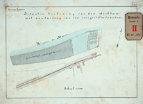 RT-G-FN182-1 Situatietekening van de strekdam en de voorgestelde dwarsdam bij de Veerdam.