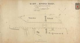 RT-G-FN182-3 Kaart van de Koningshaven met daarop aangegeven de goedgekeurde dukdalven bij de Spoorweghavenbrug en ...