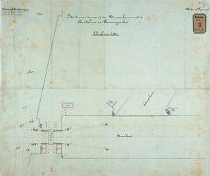 RT-G-FN185 Tekening van de situatie van de mond van de Binnenhaven met de dukdalven en remmingwerken.