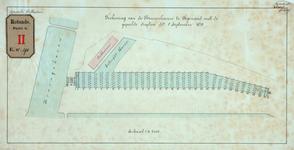 RT-G-FN190 Tekening van de Binnenhaven in de wijk Feijenoord met de gepeilde diepten van 1 september 1879.