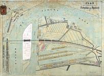 RT-G-FN201 Plan van de uitbreiding van Rotterdam in de wijk Feijenoord met daarop aangegeven de bebouwing van het ...