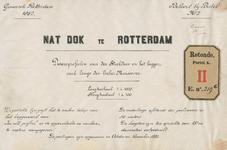 RT-G-FN219-9 Boekje behorend bij Bestek nr. 2 bestaande uit ingebonden tekeningen van dwarsprofielen van de Strekdam en ...