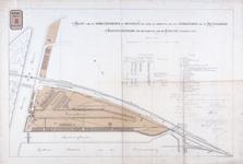 RT-G-FN220-4 Kaart van de handelsterreinen die door de afschaffing van het erfpachtsrecht van de Rotterdamse ...
