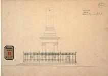 RT-G-FN228 Tekening van het hek om het gedenkteken voor F.J. Stieltjes in de wijk Feijenoord.