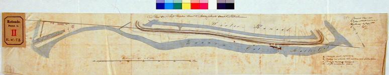 RT-G-FN23 Kaart van het Zwanengat en het Mallegat met het plan tot het maken van een bergplaats voor petroleum op het ...