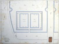 RT-G-FN232-3 Schetsplan voor een drijvend volkszwembad aan de Maaskade tussen de Willemsbrug en de Spoorbrug.