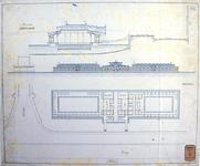 RT-G-FN232-4 Schetsplan voor een drijvend volkszwembad aan de Boompjes bij de Willemsbrug.
