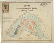 RT-G-FN24 Kaart met een ontwerp tot uitbreiding van de gemeente Rotterdam op het eiland Feijenoord met het plan voor ...