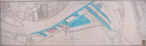 RT-G-FN241-1 Ontwerp voor een petroleumhaven aan de linker Maasoever tussen de haven van Charlois en de Spoorweghaven.
