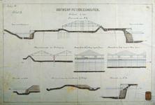 RT-G-FN241-4 Doorsneden en aanzichten van pakhuizen en kades en de Hilledijk voor een aan te leggen petroleumhaven ...