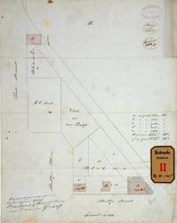 RT-G-FN244-3 Situatietekening van de verkoop van grond aan de Stieltjesstraat en de Rosestraat aan Buskens, Kurpershoek ...