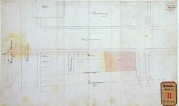 RT-G-FN249-1 Situatietekening van een perceel op de hoek van de Oranjeboomstraat en de Roentgenstraat, door H. Zaaijer ...