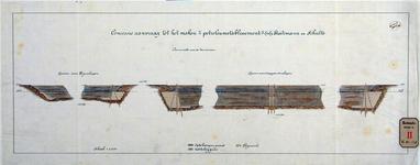 RT-G-FN250-1 Tekening waarop de op te brengen en uit te baggeren grond en het rijswerk is afgebeeld van een haven voor ...