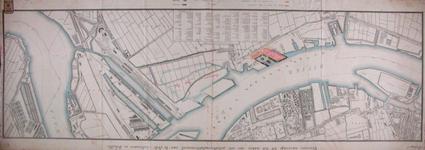 RT-G-FN250-2 Kaart van de Nieuwe Maas waarop terreinen en havens zijn aangegeven voor een te maken ...