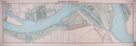 RT-G-FN253-3 Kaart van de Nieuwe Maas met daarop aangegeven een aan te leggen berghaven bij de Nieuwe Hillepolder en de ...