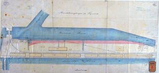 RT-G-FN258 Situatietekening van de uitbreiding van de bestrating aan de Binnenhaven.