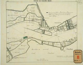 RT-G-FN265 Kaart van de Nieuwe Maas met daarop aangegeven een perceel in de Buitengorzen waarop de heren van ...