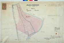 RT-G-FN33-1 Grondkaart van het plan voor de staatsspoorweg van Willemsdorp naar Rotterdam door de gemeente Charlois.