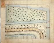 RT-G-FN4 Plattegrond van het buitendijks gebied van het eiland Feijenoord, op de kaart genaamd Zuid-Oostend der ...
