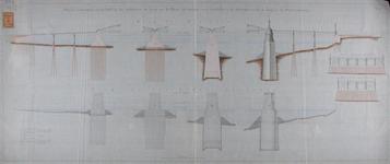 RT-G-FN56-3 Detailtekeningen van de onderbouw van een te maken brug over de Nieuwe Maas vanaf de Boompjes, waarop de ...